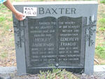 BAXTER Hedley Anderson 1908-1971 & Genevieve Francis 1909-1988