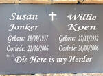 KOEN Willie 1932-2006 :: JONKER Susan 1937-2006