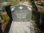 GOUWS Magrietha Dorothea nee NEL 1920-2001