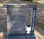 BOTHA Dick 1922-1976 & Emily Rose 1924-1981
