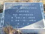 CARTER Agnes Winnifred nee WILKINSON 1885-1969