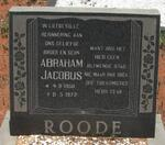 ROODE Abraham Jacobus 1950-1972