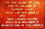 GAME George -1935 :: WALTON John Lawson -1953