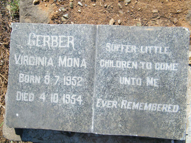 GERBER Virginia Mona 1952-1954