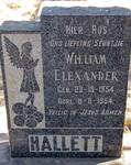 HALLETT William Elexander 1954-1954