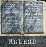 McLEOD Richard Muffat 1914-1981 & Anna Maria JONES 1916-1951