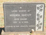 HARTLEY James Ernest 1875-1956 & Miranda DURAND -1969