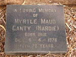 CANTY Myrtle Maud formerly HARDIE nee URIE -1976
