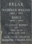 BREAR Frederick William 1899-1970 & Doris 1898-1970