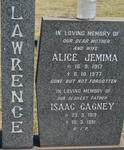 LAWRENCE Isaac Cagney 1919-1981 & Alice Jemima 1917-1977