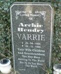 VARRIE Archie Hendry 1954-1999