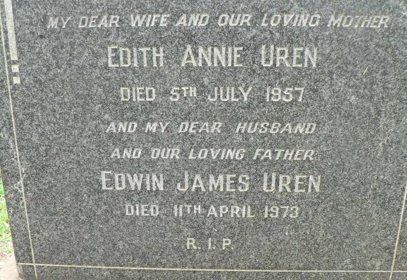 UREN Edwin James -1973 & Edith Annie -1957