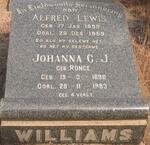 WILLIAMS Alfred Lewis 1899-1959 & Johanna C.J. RONGE 1898-1983